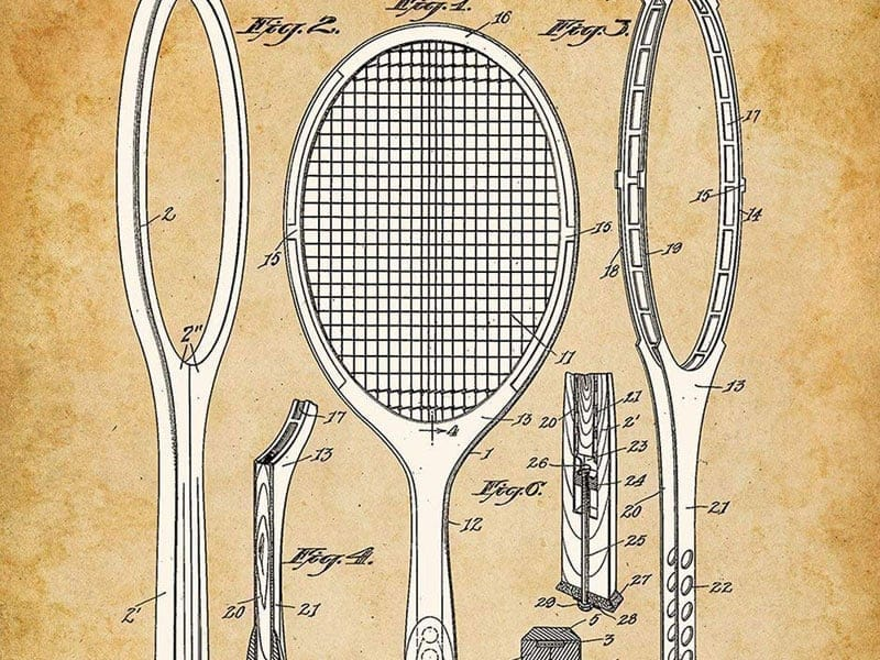 Tennis Racquet Patent Print Photo